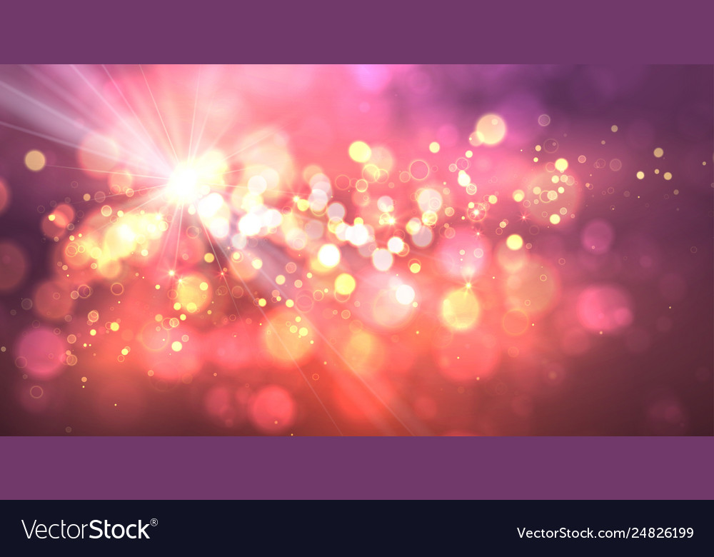 Magic background with bokeh and stars