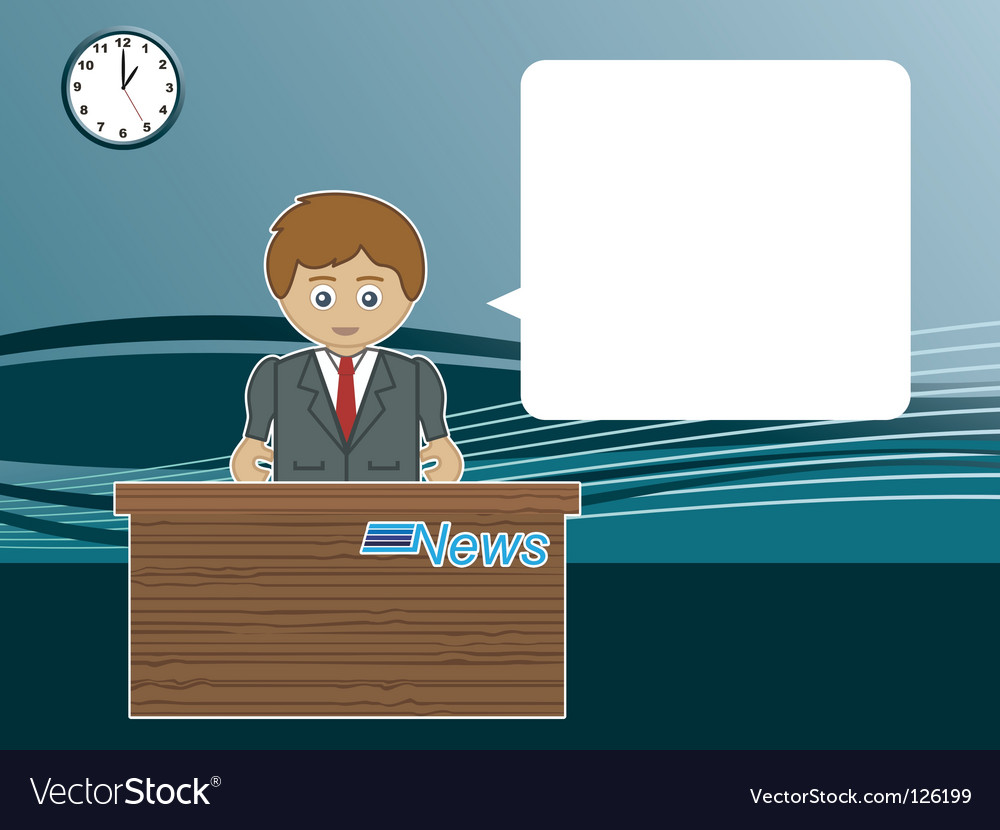 Male news reader vector image