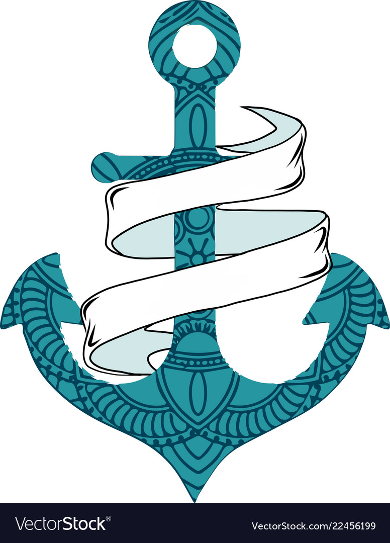 Nautical anchor with rope and