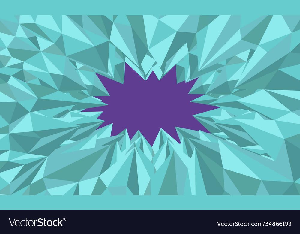 Polygonal green shiny background