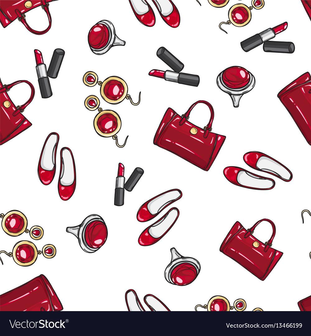 Wallpaper earing ring sack shoes lipstick