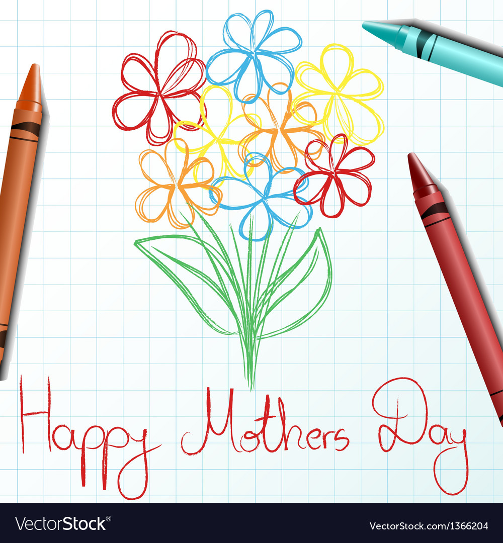 Children drawing for Mothers day