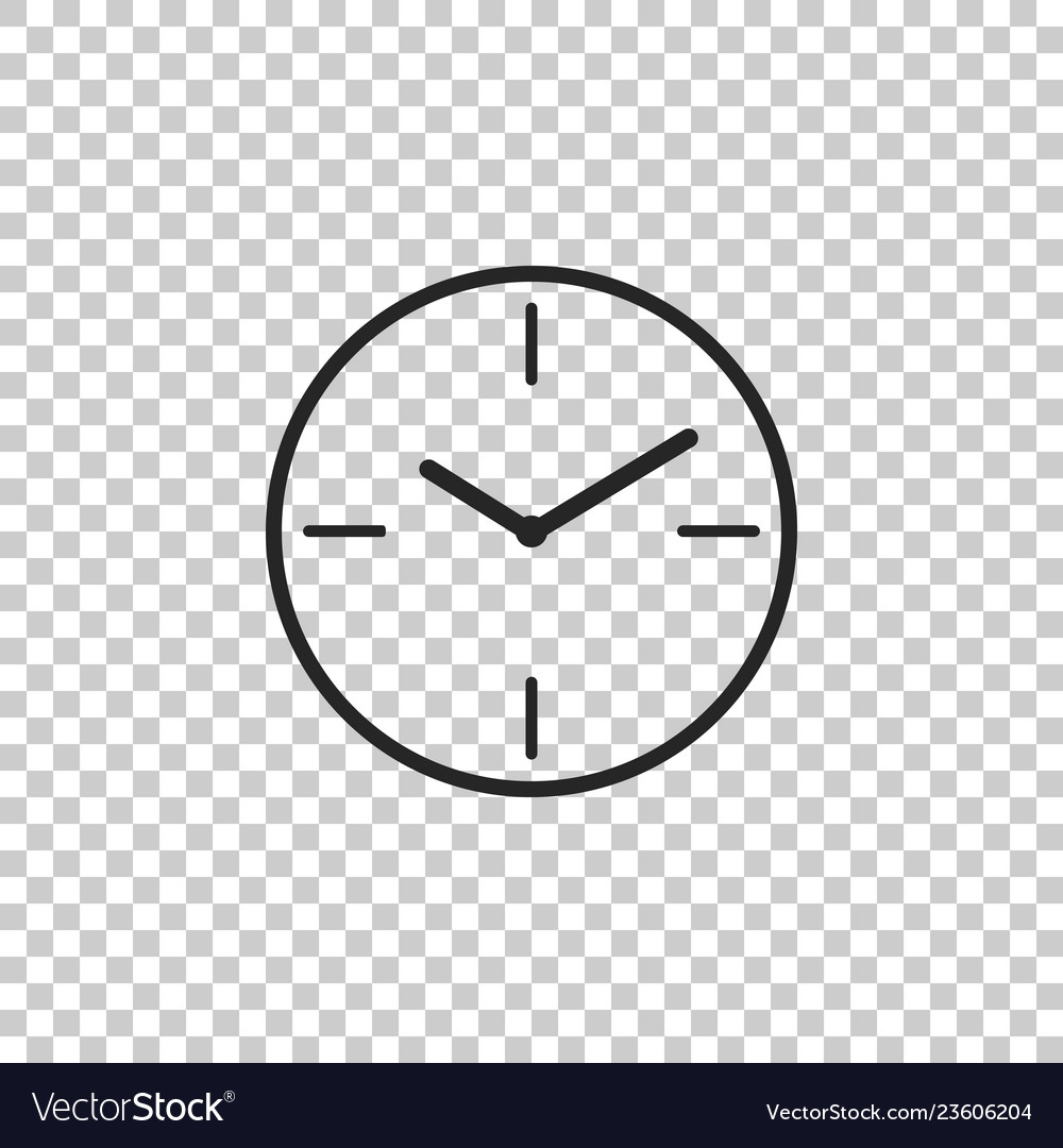 Clock icon isolated on transparent background