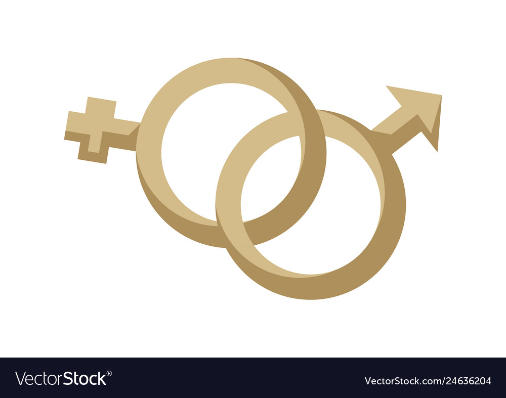 Gender male and female symbol