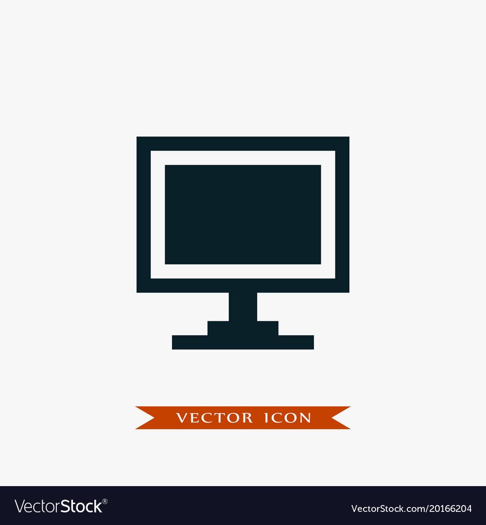 Monitor icon simple