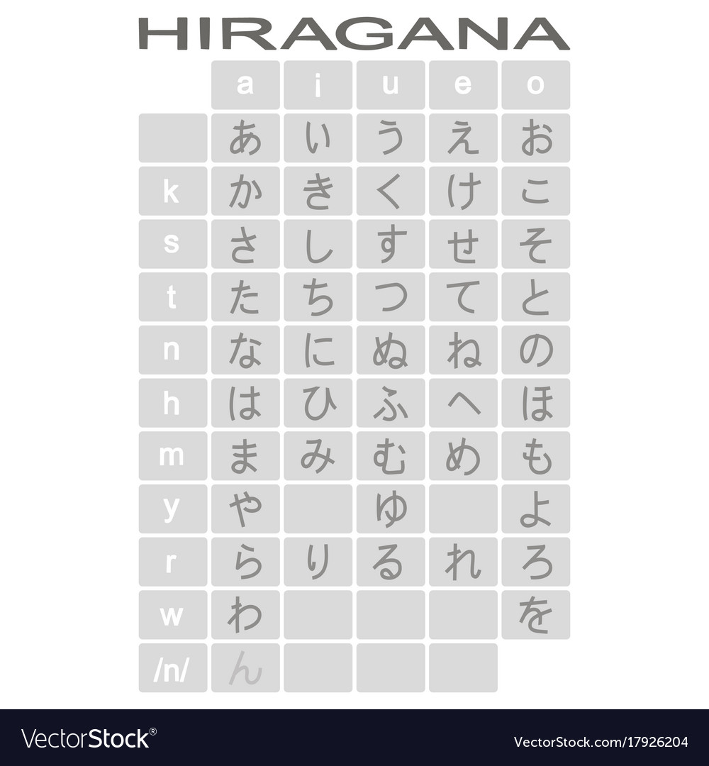 Monochrome icons with japanese alphabet hiragana vector image thecheapjerseys