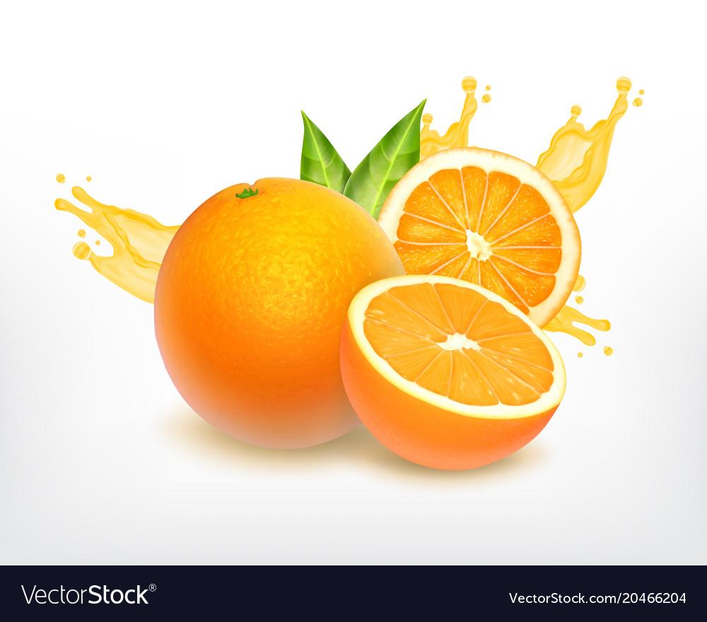 Orange fruit with slice