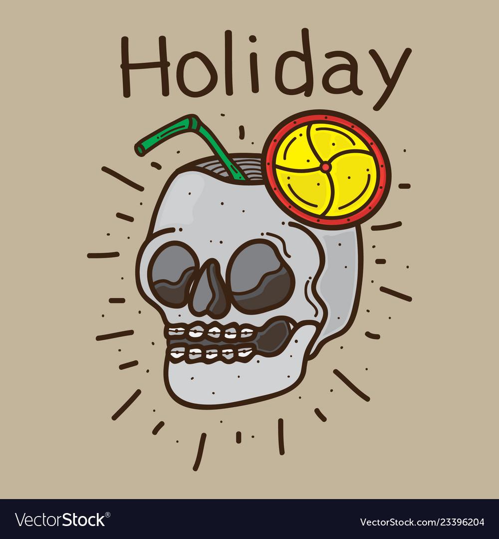 Skull design holiday