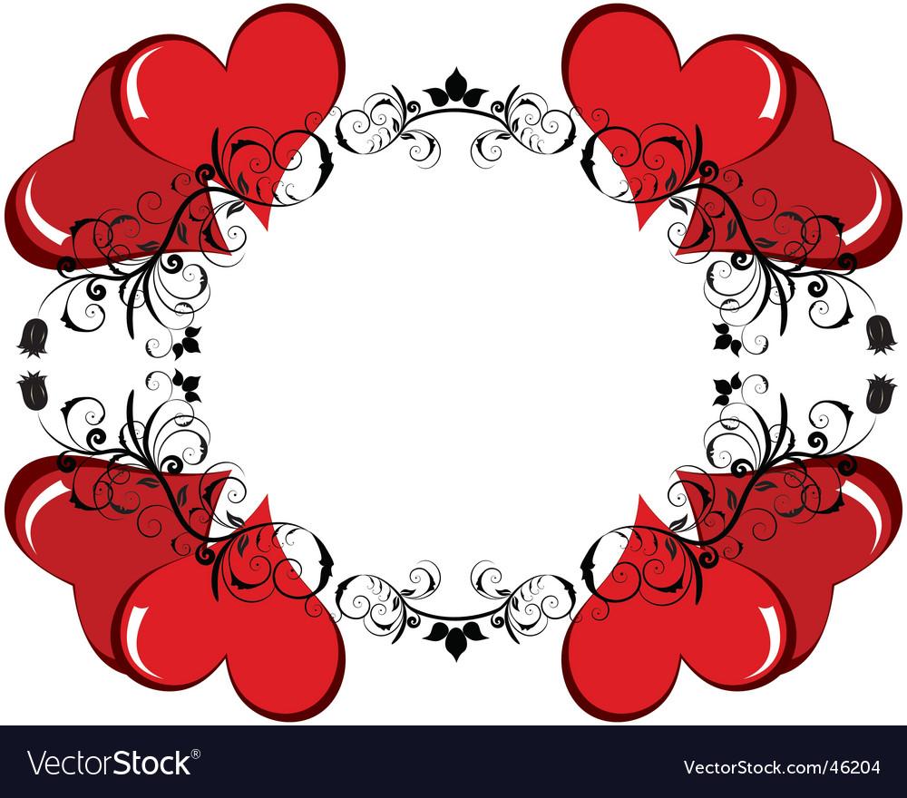 Valentine frame Royalty Free Vector Image - VectorStock
