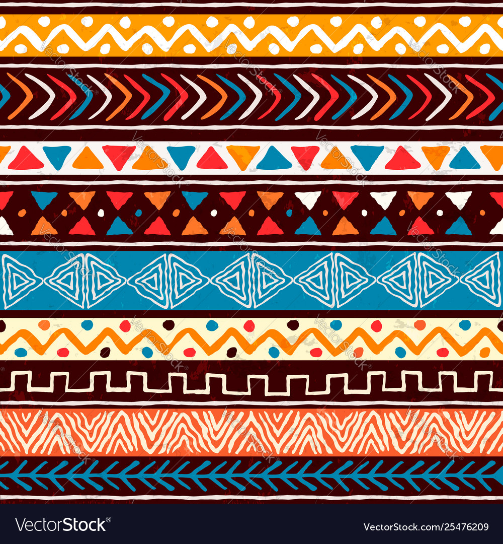 Abstract african art tribal seamless pattern
