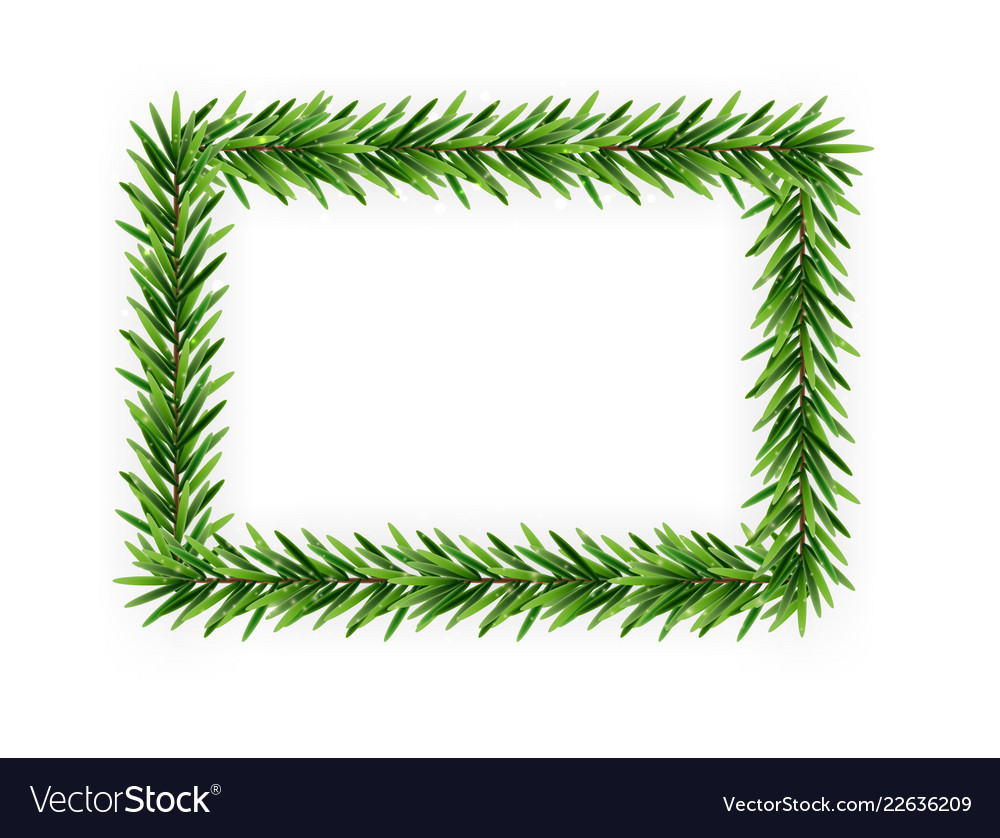 colorful realistic christmas and new year 3d frame vector image