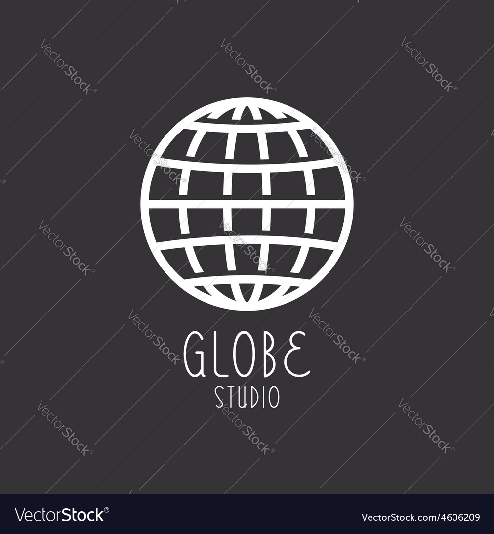 Globe sign business logo