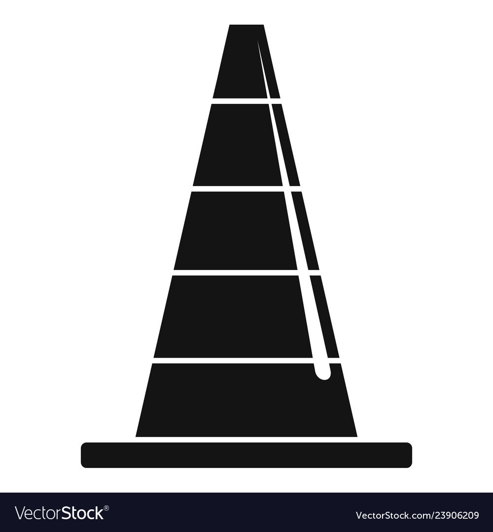 Road cone icon simple style