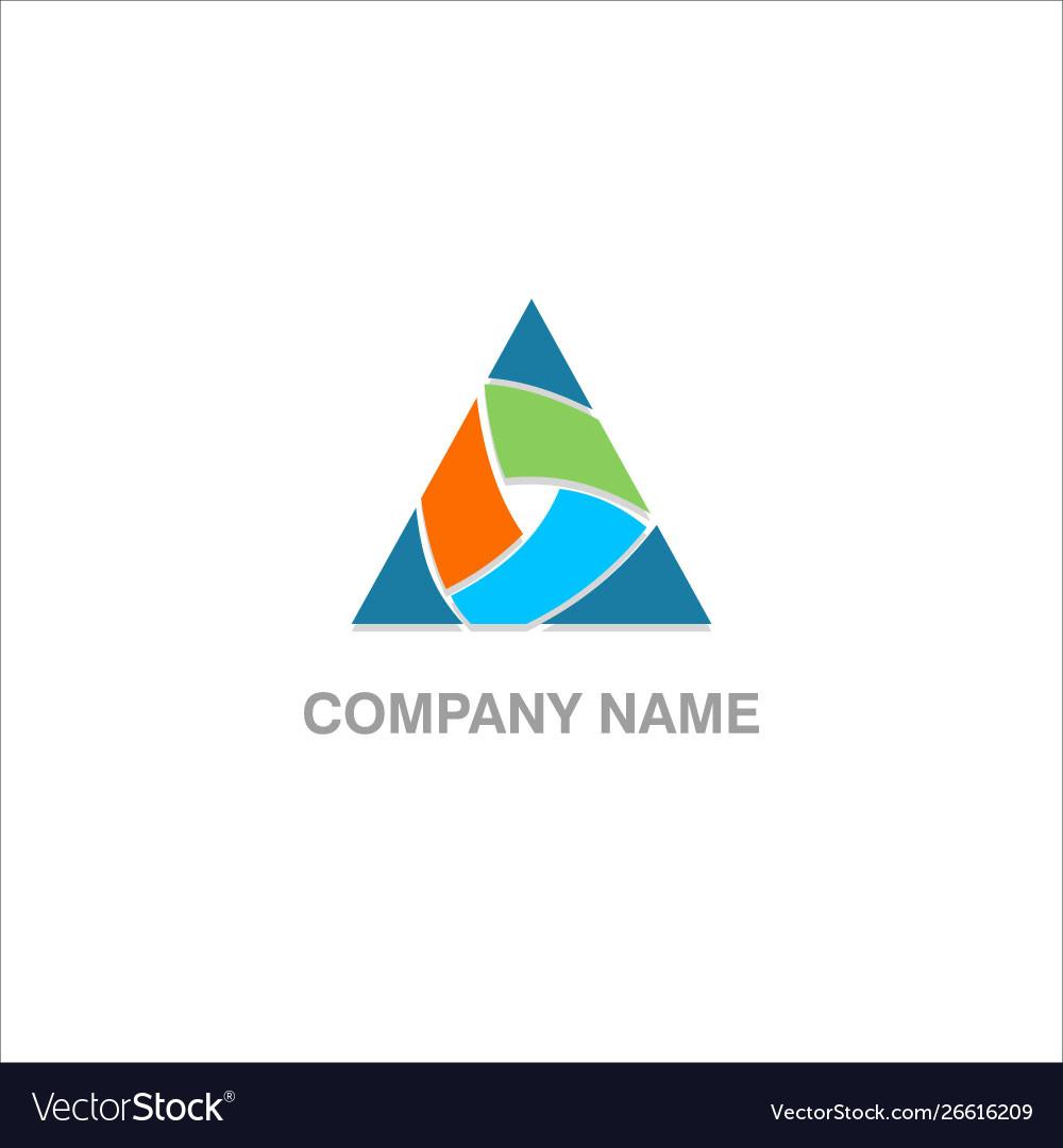 Triangle shape colored company logo