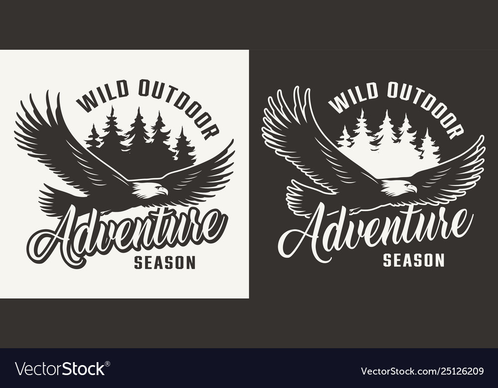 Vintage monochrome hunting label