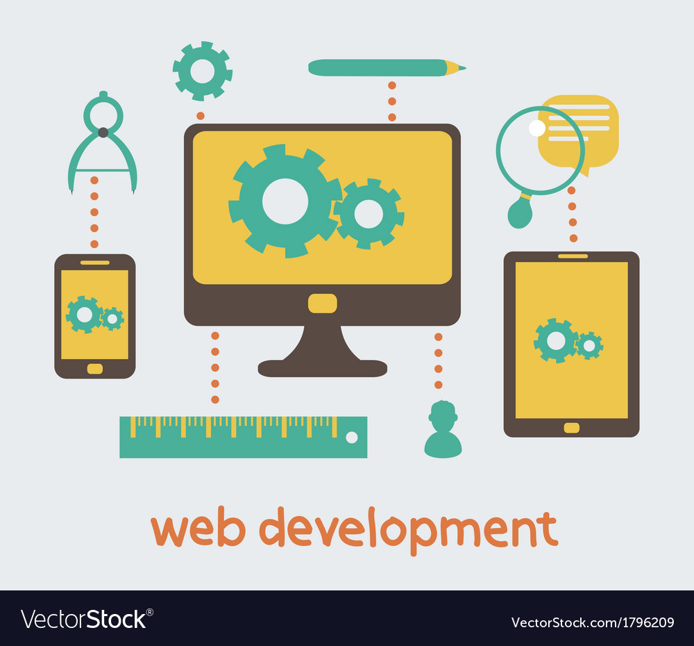Web Design Development Royalty Free Vector Image