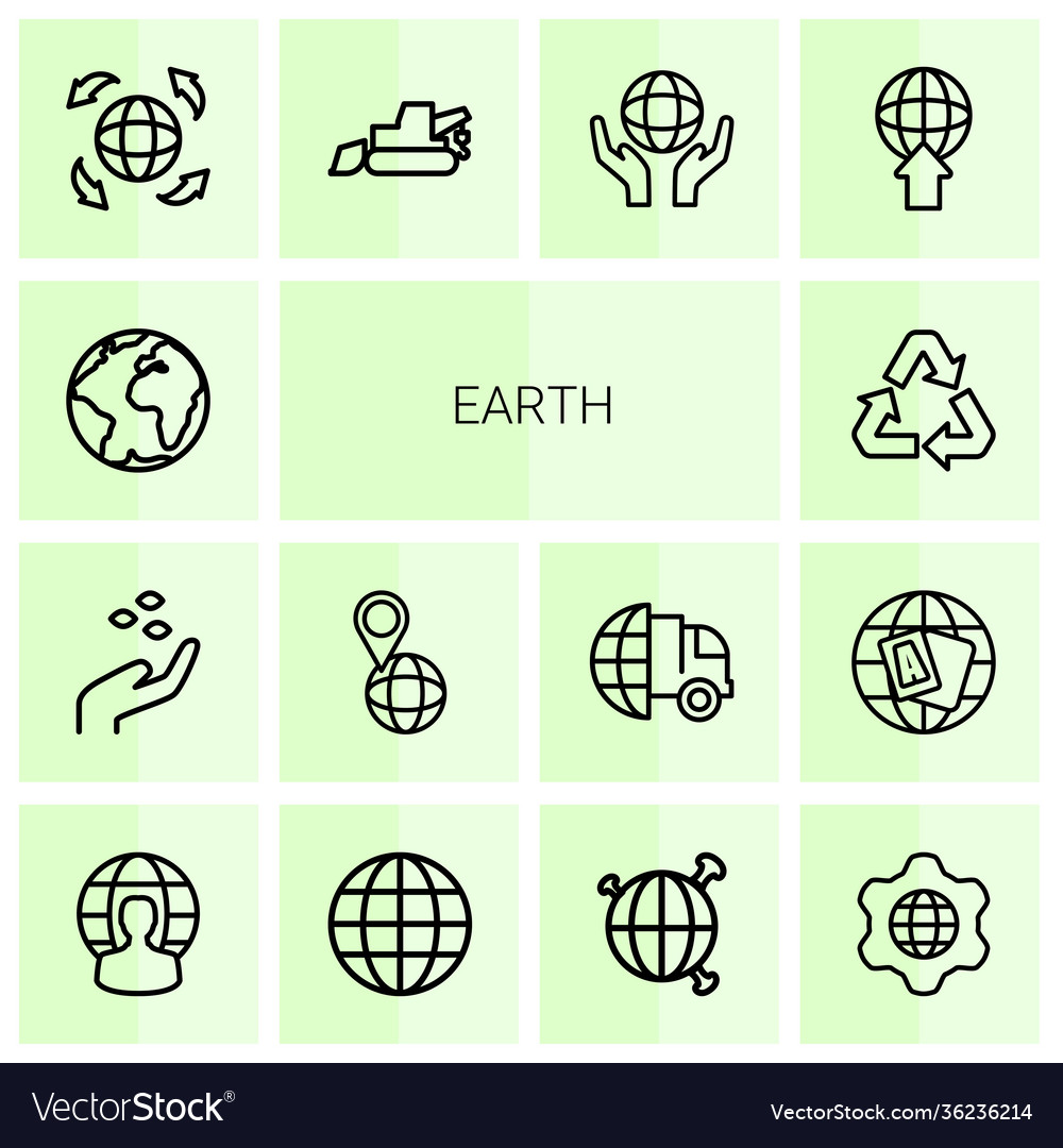 14 earth icons