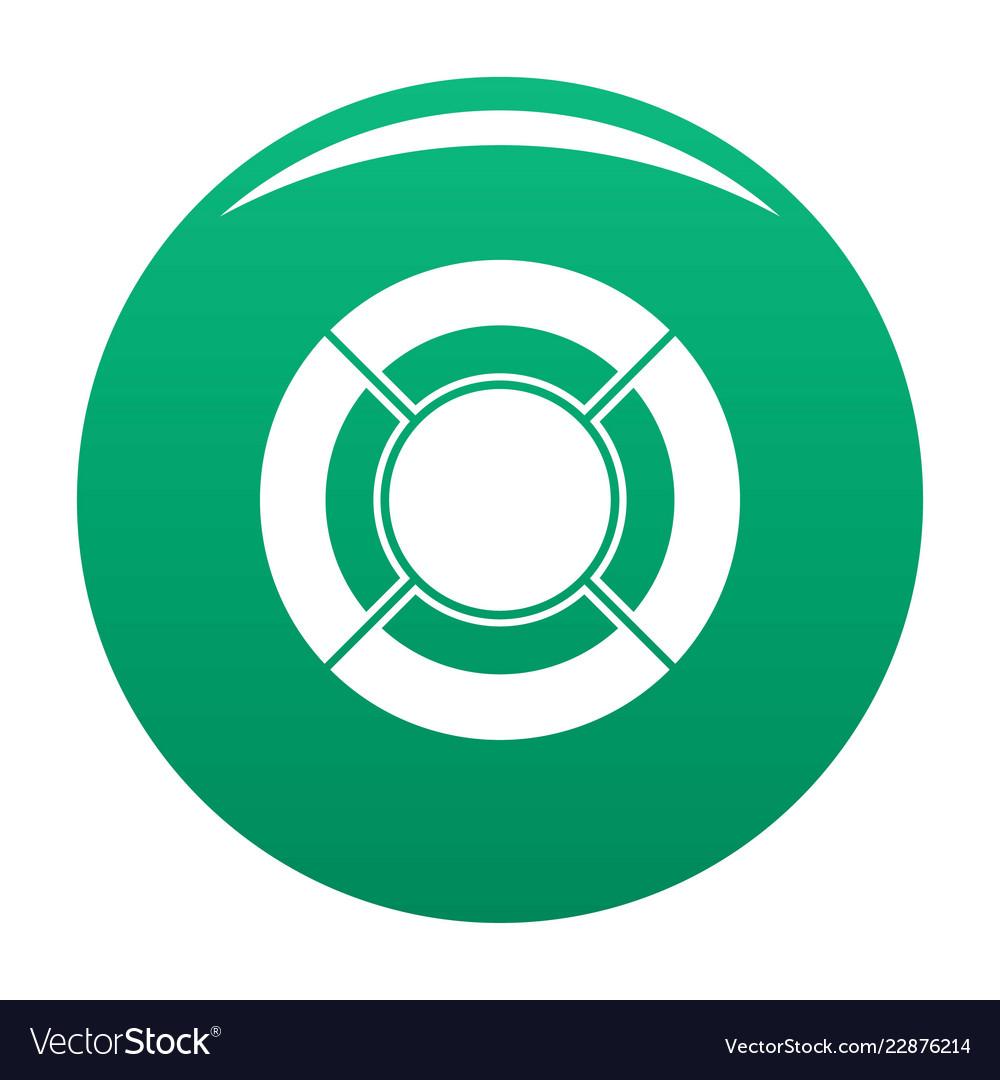 Circle graph icon green