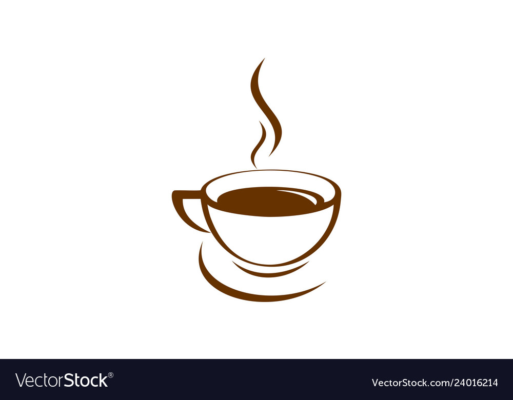 Coffee cup hot logo icon Royalty Free Vector Image