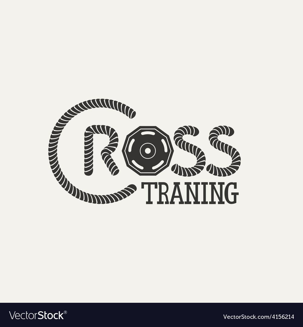 Cross Training logo vector image