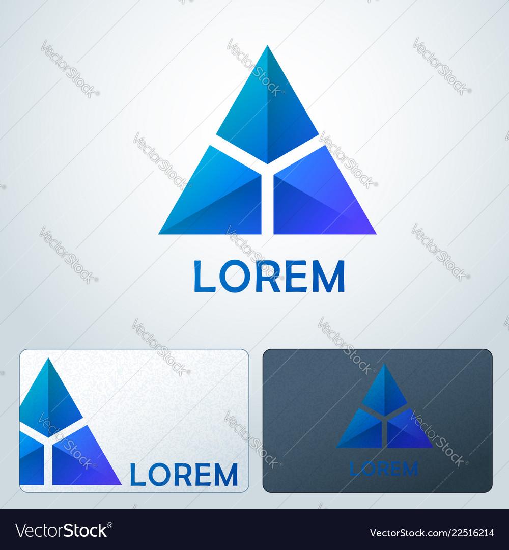 Logotype blue triangles
