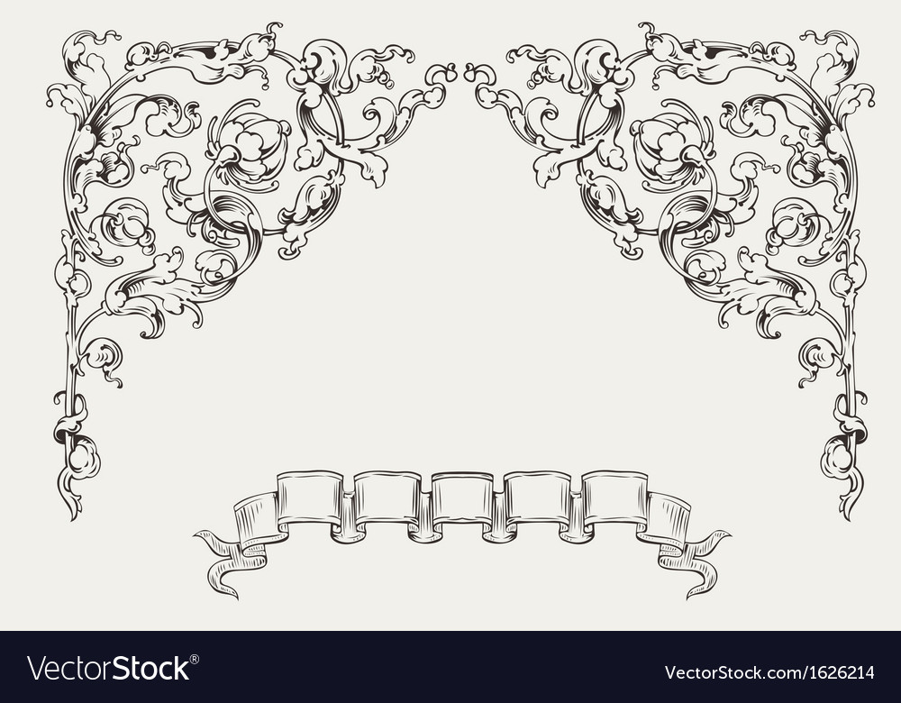 Ornate angles and banner