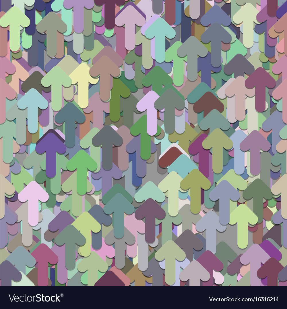 Seamless arrow background pattern vector image