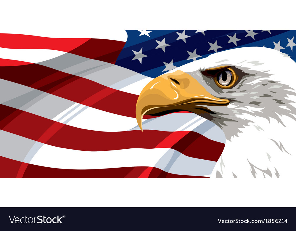 Usa Flag Eagle Royalty Free Vector Image Vectorstock