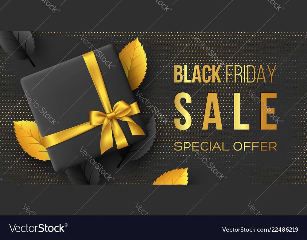 Black friday sale horizontal poster or banner