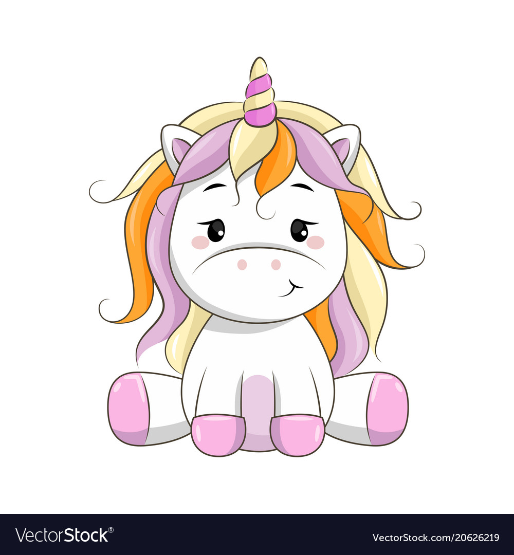 Cartoon unicorn Royalty Free Vector Image - VectorStock