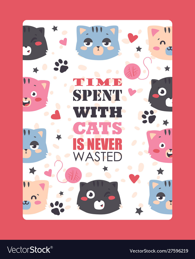 Cats funny poster cute