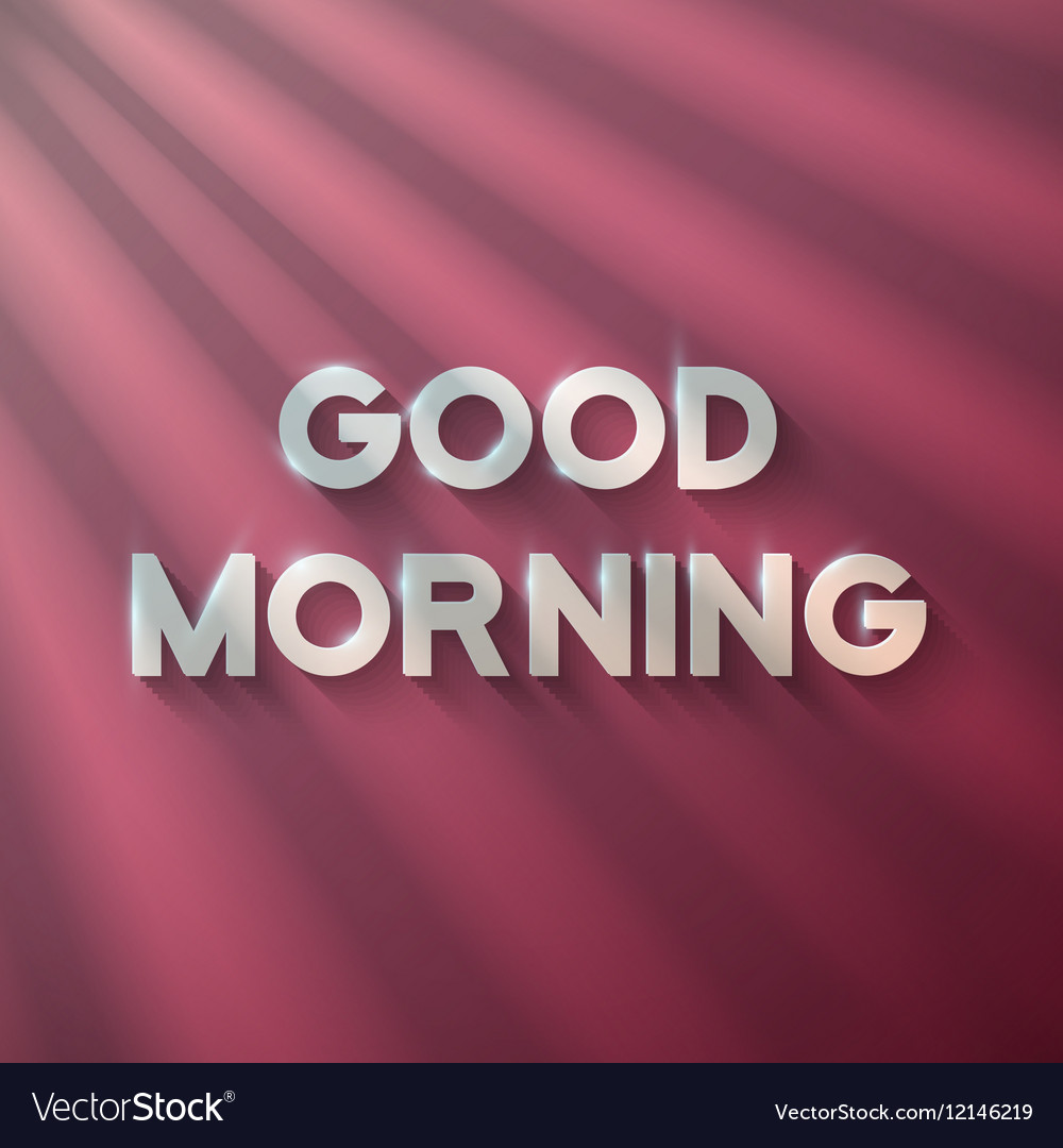 Good Morning Phrase With Sun Flares Royalty Free Vector