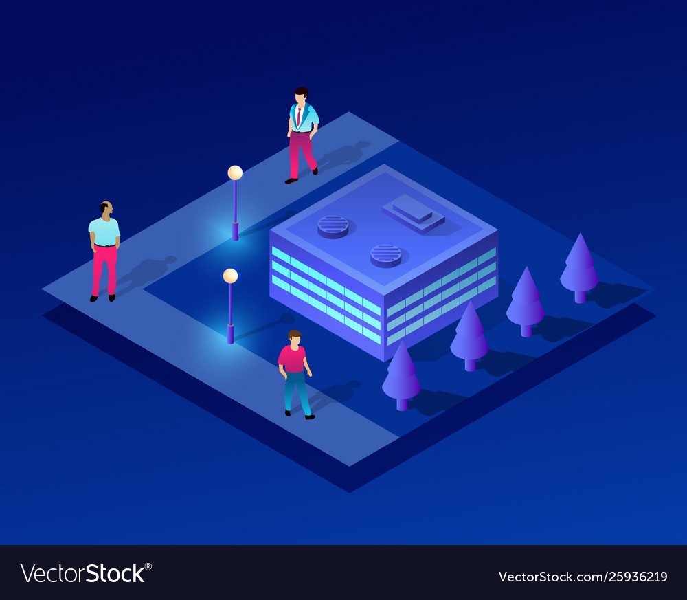 Isometric people urban