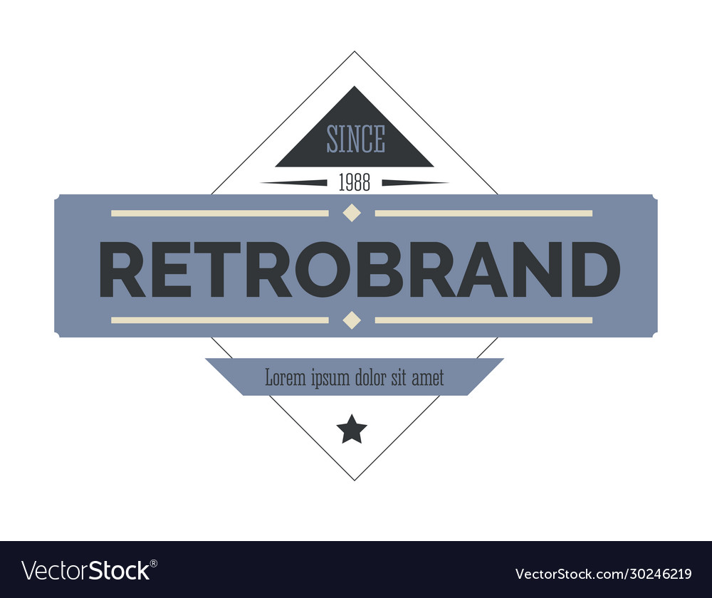 Retro logo or label isolated icon vintage
