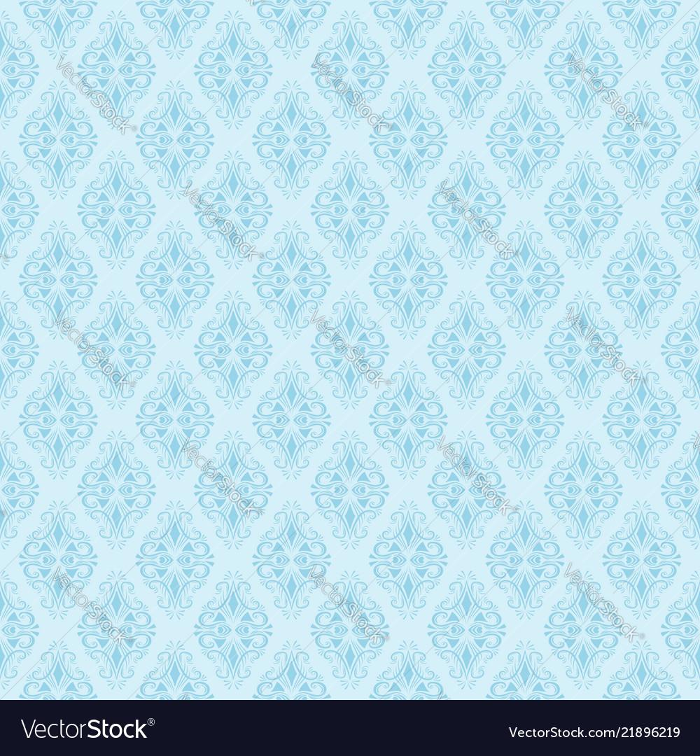 Seamless blue damask pattern