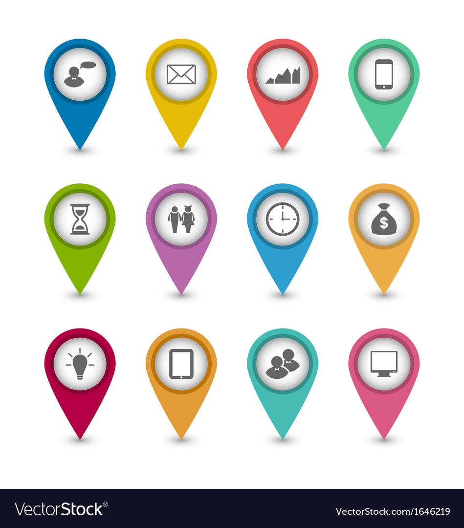 Set business infographics icons for design website