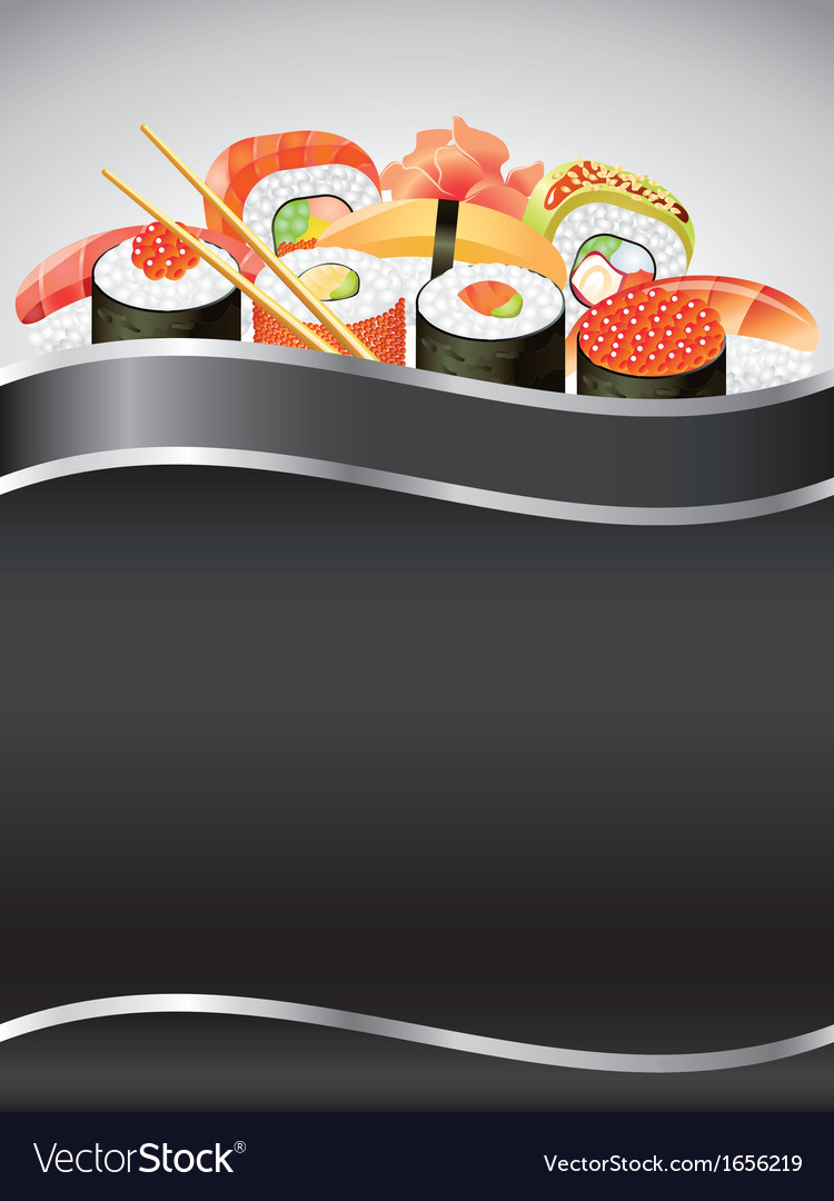 Sushi vertical background