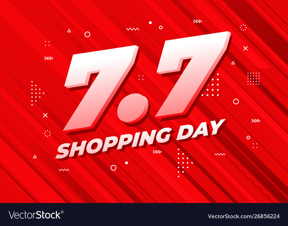 7 july shopping day sale poster