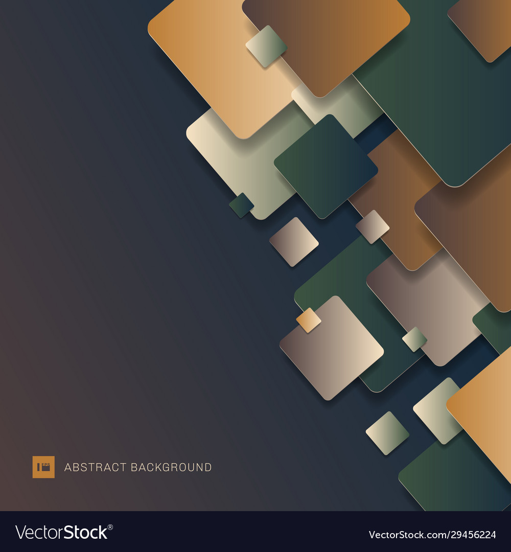 Abstract 3d modern geometric squares pattern