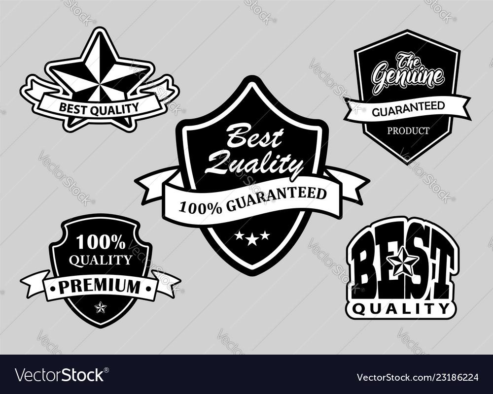 Best quality label badges