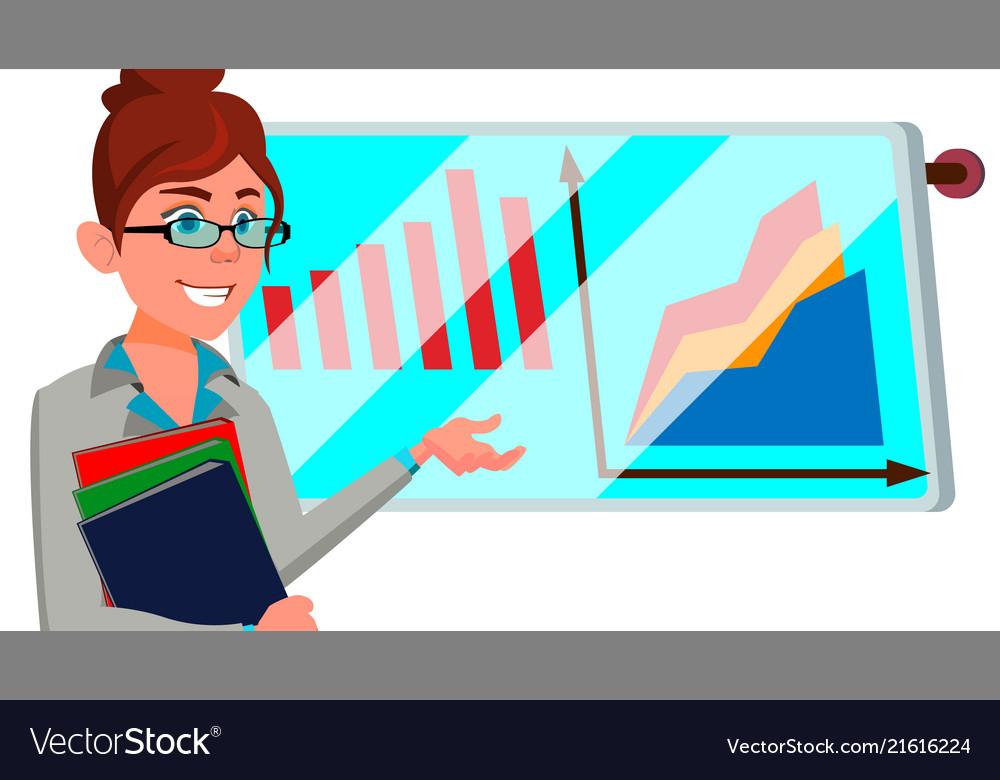 Broker female successful stock-market