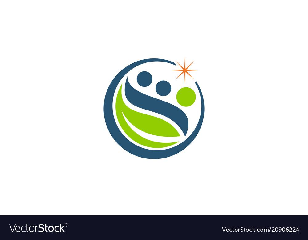Funding farmer logo design template