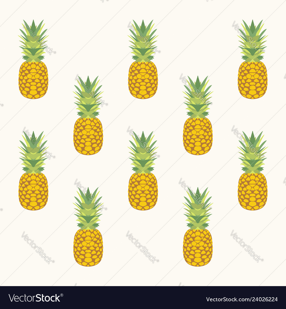 Pineaaple pattern vector