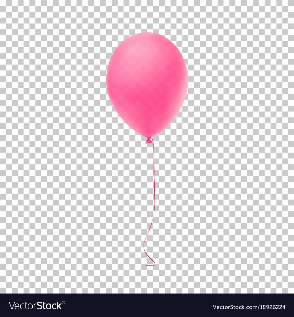 Realistic pink balloon