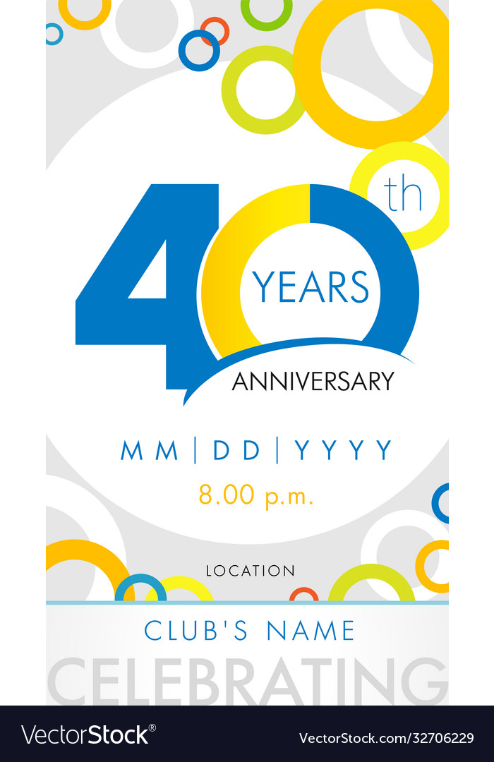 40 years anniversary card