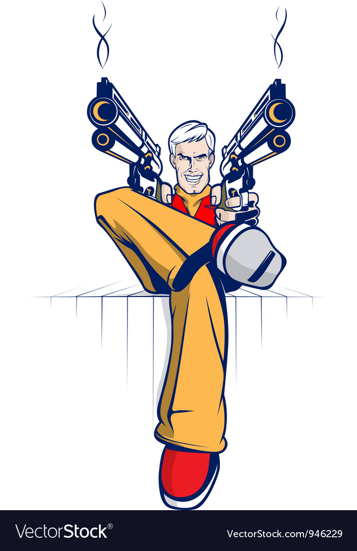 Cartoon gangster