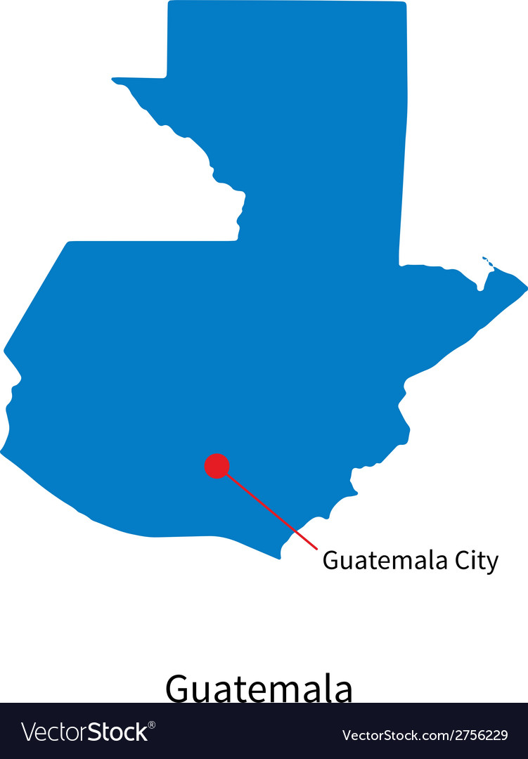 Map Of Guatemala With Capital Detailed map of Guatemala and capital city Vector Image