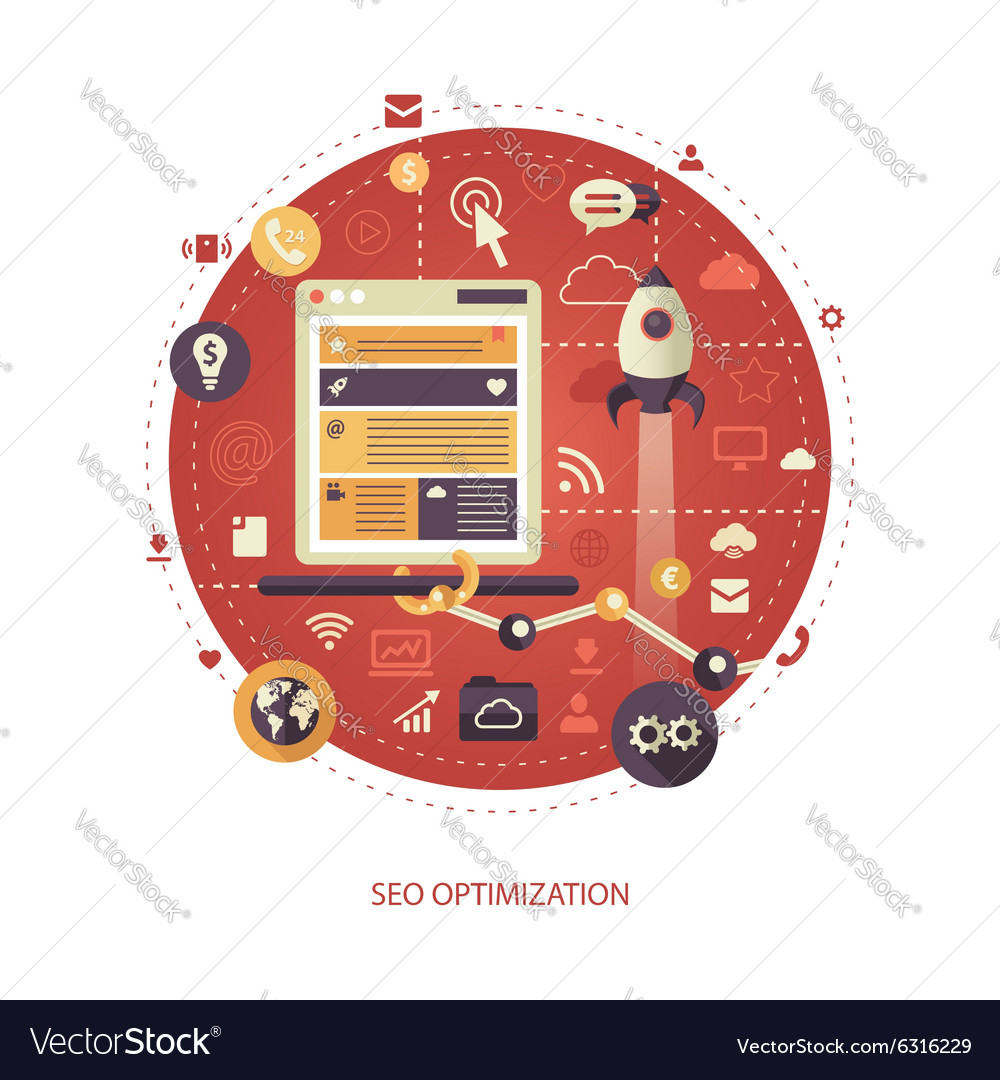 Flat design business vector image