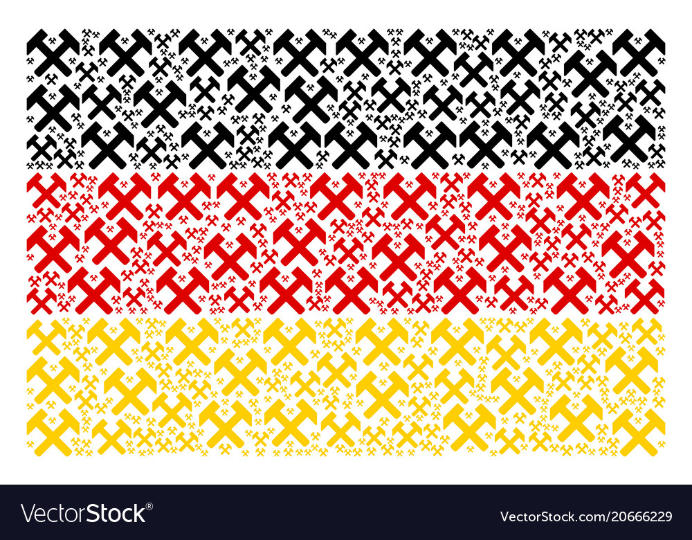 Germany flag pattern of hammers icons