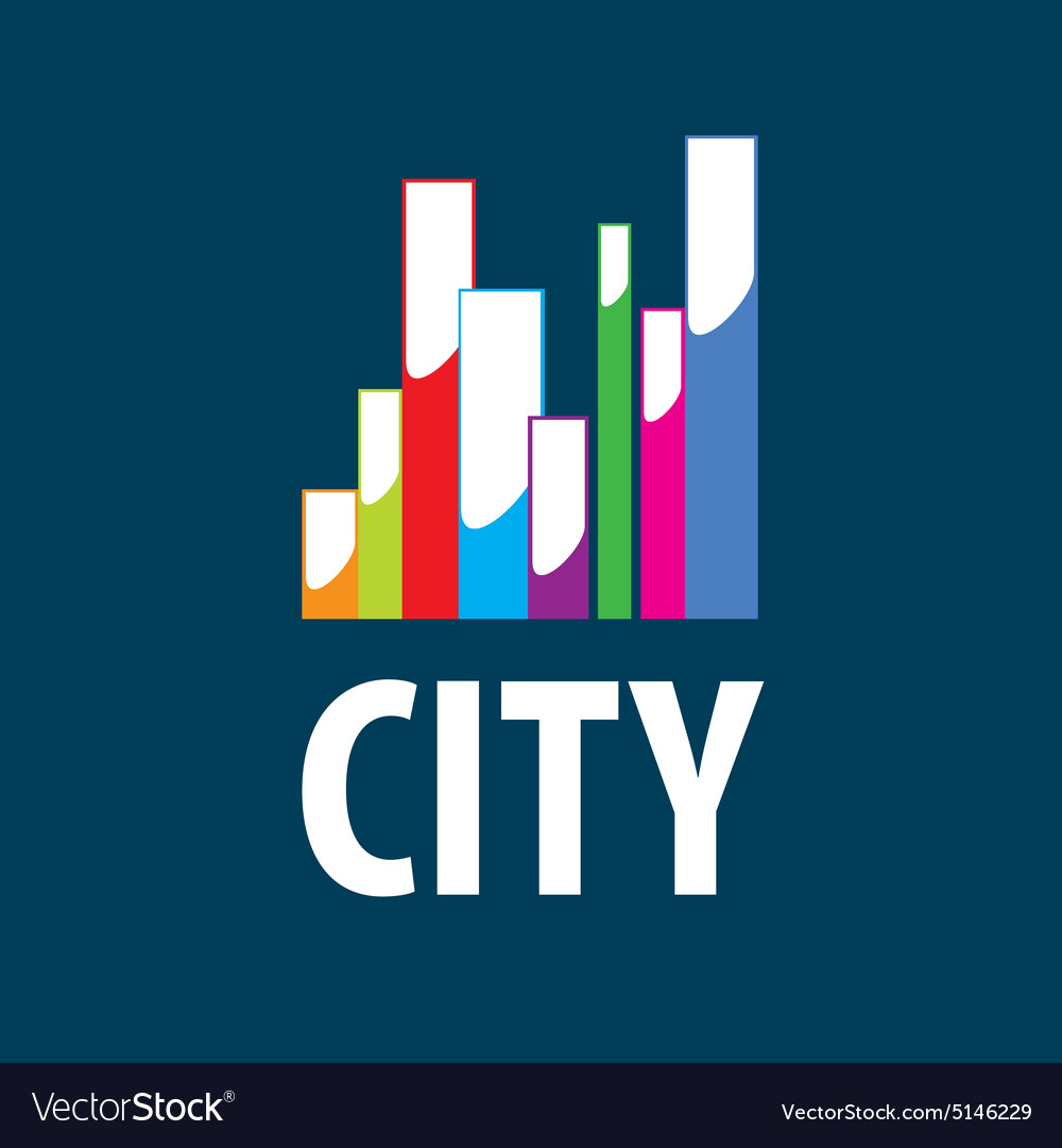 Logo city in the form of diagram vector image
